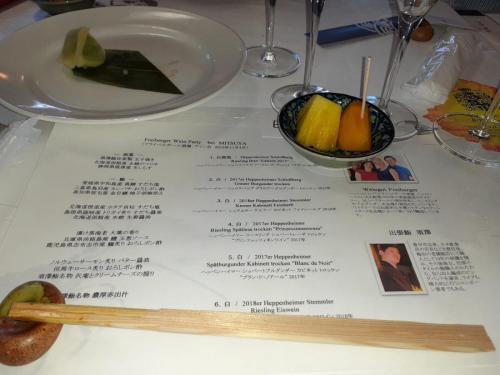 Freiberger-Wein und Sushi