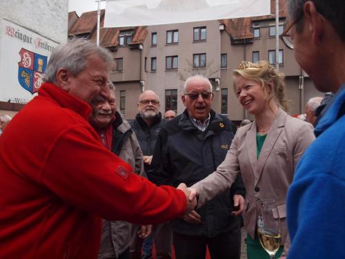 Empfang der Deutschen Weinprinzessin 2017/18 Charlotte Freiberger im Weingut Freiberger